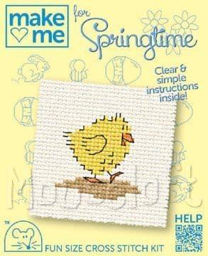 Mouseloft Chick Make Me For Springtime cross stitch kit